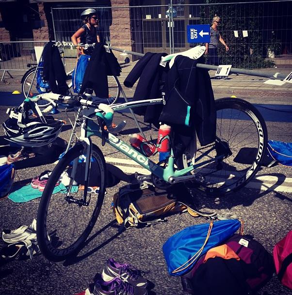 cykel på plats på Vattenfall World Triathlon Stockholm