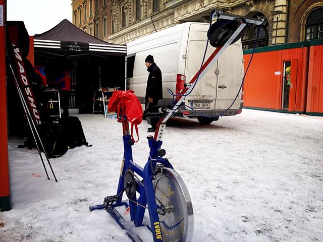 skidåkarcykel