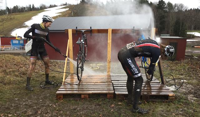 tvätt av cyklar