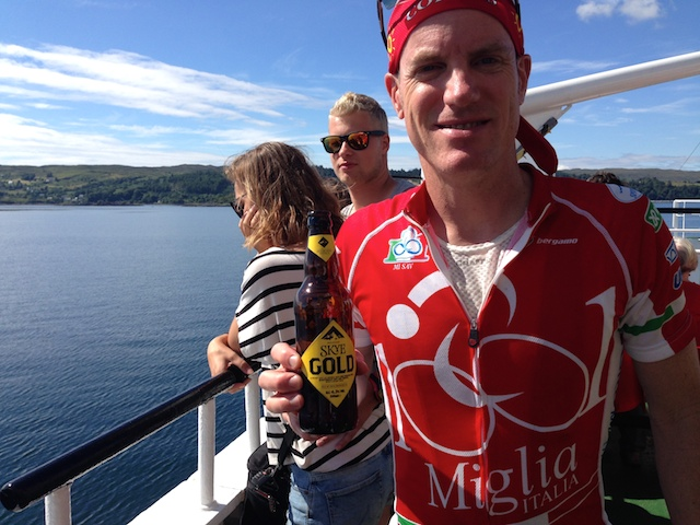 John drinking beer